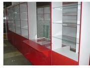 витрины, стеллажи, прилавки, торговое оборудование
