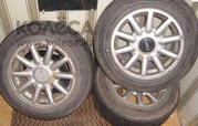 Диски R15 с зимней резиной Bridgestone на Audi C4