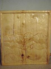Картина резная,  ручной работы,  дерево,  40*40 АЛМАТЫ