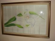 Картина Цветок ириса - техника батик