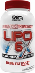 Nutrex Research Labs,  Lipo 6X,  120 Capsules