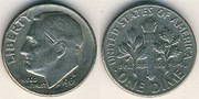 Продаю монету united states of america one dime 1969 in god we trust