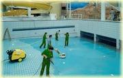Мойка бассейнов.