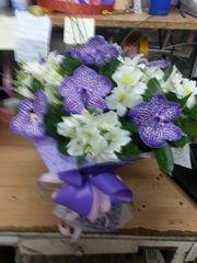 букет с орхидеями,  доставка по алматы