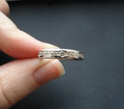 Бриллиантовое кольцо из белого золота,  17 размер