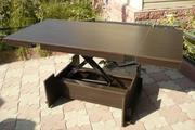 Стол трансформер имеет 5 фиксированных положений высоты.