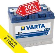 Аккумулятор VARTA (Германия) 70Ah E23 261x175x225 с доставкой.