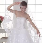 Свадебная фата с цветами 280 см