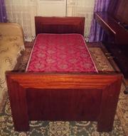Кровать одноместная + матрац ортопедический