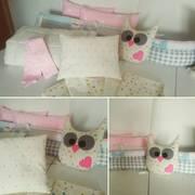 Бортики в детскую кроватку,  комплект в манеж пошив под заказ
