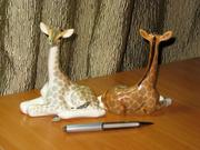 Фарфоровая статуэтка ЛФЗ,  жираф маленький.
