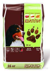 Сухой корм для взрослых собак Дилли Говяжий гуляш с овощами