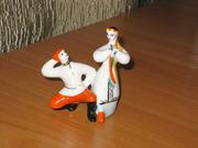 Статуэтка Танцующая пара или Гопак,  фарфор ЗХЛ Полонное.