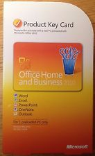 office 2010 Home and Business key card