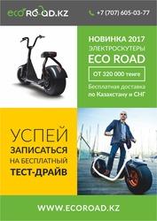 Новинка 2017 года - электроскутер Eco Road.