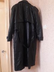 Продам мужской кожаный плащ