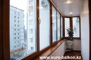 Остекление и утепление балконов и лоджий в Алматы.