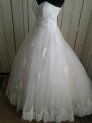 Молочного цвета свадебное платье  дешево