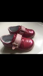 Кожанные туфли для девочки Шаговита