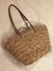 Сумка пляжная из соломки,  ручное плетение