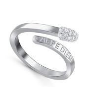 Серебряное кольцо «Спичка»